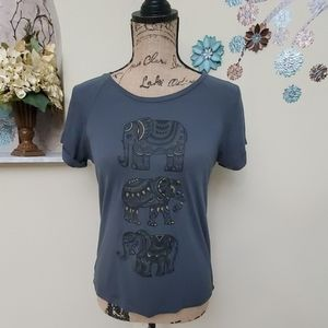 Freeze Woman's XS Tshirt with Elephant Designs